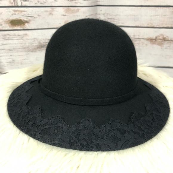 b851eb9b355 BCBGeneration Accessories - BCBG lace trim felt hat